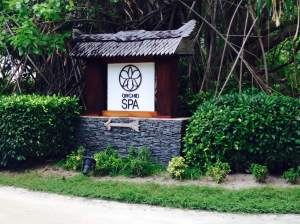 The entrance to the Orchid spa