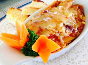 The lasagne at sea breeze